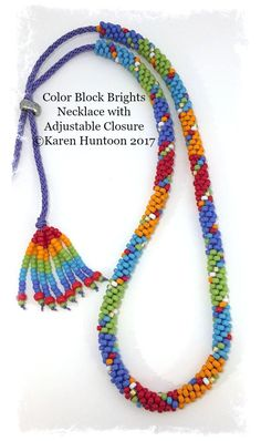 *Kumihimo Beaded Color-Block Brights Necklace Kit