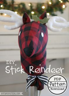 DIY Stick Reindeer