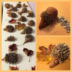 Hobbies for Pyssel på fritids. Hobbies for leisure. Pinecone Crafts Kids, Pine Cone Crafts, Autumn Crafts, Autumn Art, Nature Crafts, Summer Crafts, Diy And Crafts, Diy For Kids, Crafts For Kids