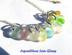 Drilled Sea Glass Charms 10 Tiny Drilled Beach by aquablueseaglass, $17.99
