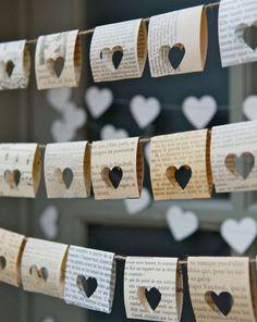 DIY Hochzeitsdeko: Herz-Girlande