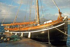 B112 Ireland Galway Hooker Famaire Carna County Galway Fishing Cargo Boat Photo | eBay