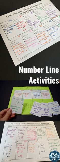 Number line activities help students practice a skill, while reviewing integers. Great for algebra and geometry.