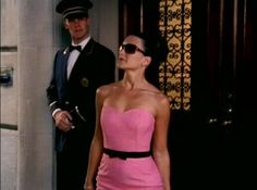 Charlotte York, Sex and the City, SATC, Elisabeth Taylor, Pink dress, Park Avenue Princess, outfit