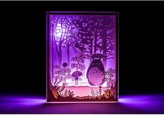 My Neighbor Totoro Handmade Paper Craft 3D Night Light Shadow