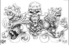 Young boys and girls who are big fans of rock music somehow think it is cool to get the images of skulls and ugly demons as tattoos on their bodies. Description from latestfashiontattoo.blogspot.co.nz. I searched for this on bing.com/images