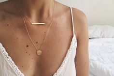 Collier FULL MOON - plaqué or - by Chouette Fille