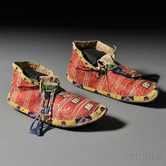 Lakota moccasins, c.19th century.