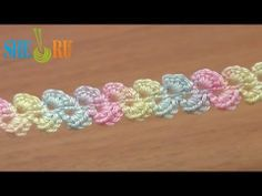 FREE HOW TO ~   crochet cord Lesson 33 columns of the cord connected without nakida