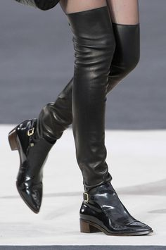 Chanel thigh-high boots
