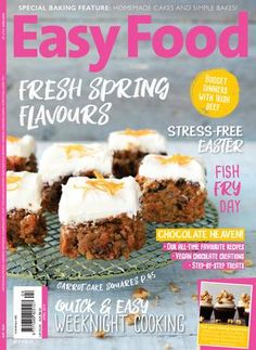 """Cover of """"Easy Food Issue 138 (April 2019)"""" Tasty Steak Recipe, Ham Steak Recipes, Healthy Soup Recipes, Baby Food Recipes, Food Network Recipes, Le Cordon Bleu, Italian Minestrone Soup Recipe, Chefs, Saint Germain"""