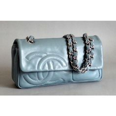 Chanel Light Blue Lambskin Flap Bag