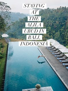 The Alila Ubud: A Beautiful Jungle Hotel in Bali with Epic Pool Views - Live Like It's the Weekend Luxury Hotels Bali, Ubud Hotels, Bali Travel Guide, Asia Travel, Travel Tips, Epic Pools, Places To Travel, Places To Go, Find Cheap Hotels