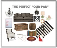 Tips on combining masculine and feminine interior style when you first move in together.
