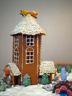 One of the Christmas family traditions we had when I was growing up was making a Gingerbread house. My mom always made a Gingerbread house, so I didn't think much about it, until I read a couple of articles about Finnish Christmas traditions. Christmas Gingerbread House, Family Christmas, All Things Christmas, Gingerbread Houses, Xmas, Christmas Baking, Gingerbread Cookies, Christmas Crafts, Family Traditions