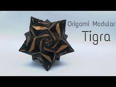 Origami Modular Tigra by (Ekaterina lukesheva) - YouTube