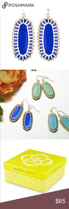 Kendra Scott Dayla Oblong Earrings with Box Kendra Scott Dayla Oblong Earrings with Box. Color Cobalt Kendra Scott Jewelry Earrings