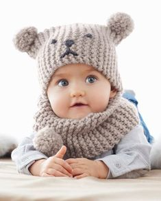 Knit Baby Sweaters Baby Hats Knitting Knitting For Kids Loom Knitting Knitted Hats Crochet Baby Hats Knitting Projects Knit Crochet Snood Bebe Baby Hat Knitting Pattern, Baby Hats Knitting, Crochet Baby Hats, Crochet Beanie, Free Knitting, Knitted Hats, Knitting Ideas, Free Crochet, Snood Pattern