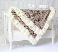 Crochet Baby blanket PATTERN 91 - Chocolate Dream Blanket Pattern - Brown and Cream - Instant Download PDF Pattern by CaliChicPatterns on Etsy https://www.etsy.com/listing/189765416/crochet-baby-blanket-pattern-91