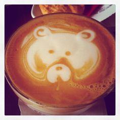 oh look, a bear Latte, Bear, Food, Bears, Meals, Yemek, Latte Macchiato, Eten