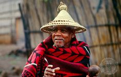 Basotho man in traditional dress, Freestate