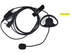 D-Shape Earpiece//Headset Boom Mic VOX For Icom Radio IC-91A IC-F3 IC-91AD IC-A20