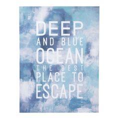 Toile bleue 75 x 95 cm DEEP OCEAN