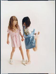 little girl pink dress and denim skirt from Zara Preteen Girls Fashion, Teenage Girl Outfits, Cute Girl Outfits, Kids Fashion, Casual Outfits, Women's Fashion, Teenage Clothing, Clothing Ideas, Shirts