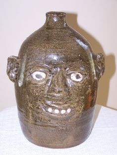 Reggie Meaders Pottery Face Jug