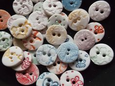 Porcelain Ceramic Round Buttons Handmade by melissaceramics, more polymer clay inspiration for closures