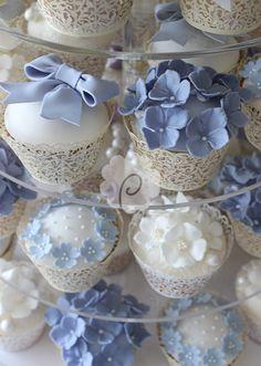 Cornflower Blue Cupcakes                                                       …