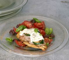 Chicken, Ham, and Mozzarella Stacks with Marinated Tomatoes - Easy Summer Chicken Recipes