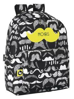 Este day pack de Moos Moustache es una fantástica mochila de diseño alegre que gusta a todas las niñas. Como el resto de day pack de la colección, tiene cintas traseras, asa de mano y bolsillo frontal. Los bigotes son última tendencia en los últimos meses. ¡Ahora también podrás ir a la moda con tus artículos escolares! Dimensiones: 31 cm x 42 cm x 13 cm.