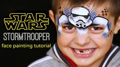 "Stormtrooper ""STAR WARS"" — Face Painting Tutorial — Аквагрим ""Звездные В..."