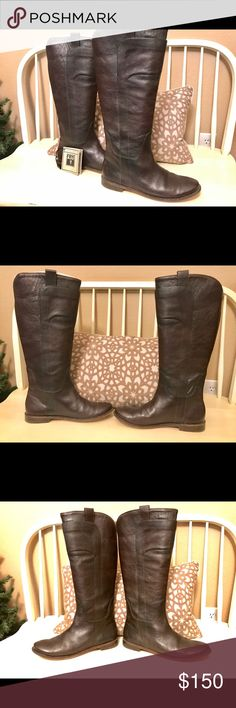 Frye Paige Tall Riding Boots Women's 9.5 B DarkBRN Only worn 5-7 times! Great deal and hundreds off of retail value of $388! Frye Paige Tall Riding Boots 9.5 B Dark Brown in great condition! Frye Shoes