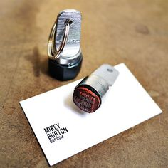 Business Card Stamp Keychain | 31 Unusual Gifts To Give A Design Lover