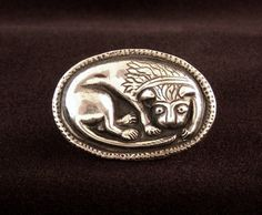 Medieval Sterling Lion Ring. Cuteness!