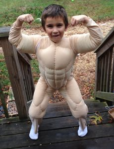 How to make a Kids Muscle Suit... I imagine this could be extended for an adult...