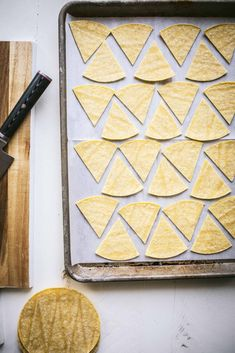 Homemade Baked Tortilla Chips are made using store-bought corn tortillas. Just cut them into wedges, season them with Mexican spices, spray with oil & bake for a perfectly crispy, dippable chip! Flour Tortilla Chips, Homemade Tortilla Chips, Homemade Tortillas, Fried Tortillas, Flour Tortillas, Masa Recipes, Quinoa Tacos, Cheesy Enchiladas, Fried Chips