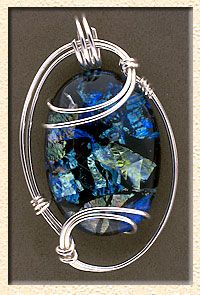 Wire wrapped pendant                                                                                                                                                                                 More