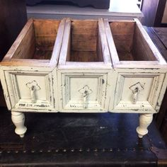 Antique Drawers transformed into a unique buffet server, or display! Options are endless! Offered by B Inspired Designs - http://www.binspireddesigns.net / http://www.facebook.com/binspireddesigns