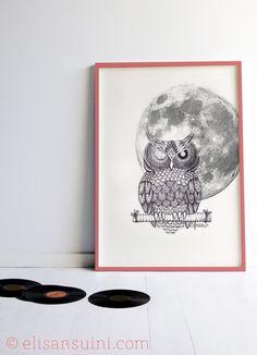 Owl, cornice 2 - Elisa Ansuini illustrations