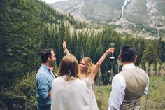 Tara and Christopher's Unconventional reception was celebrated in the mountains with Dom Perignon & craft beer! Photos & video by Forget Me Not Media See more..@intimateweddings.com #elopement