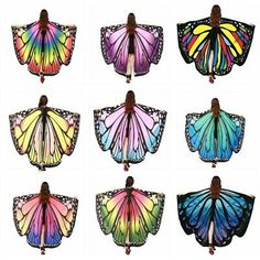NEW Womens Soft Fabric Butterfly Wings Fairy Lady Nymph Pixie Costume Accessory Butterfly Wings Costume, Feather Angel Wings, Fancy Costumes, Adult Costumes, Pixie Costume, Fabric Butterfly, Butterfly Fairy, Butterfly Kisses, 1st Birthday Girls