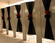 Nice idea to decorate the bathroom of your wedding venue!
