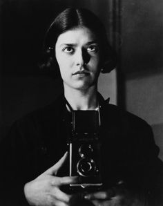 Eva Besnyö (1910-2003) - Dutch-Hungarian photographer who participated in the Nieuwe Fotografie (New Photography) movement. Self-portrait with Rolleiflex, Berlin 1931