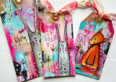 Whimsical animal art journaling!