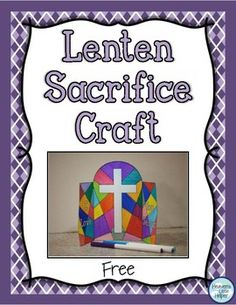 Color by number for lent catholic printables pinterest lent free lenten sacrifice craft do you need a simple way for your students to keep fandeluxe Image collections