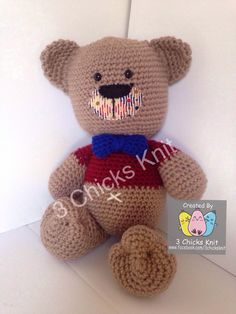 Your place to buy and sell all things handmade Crochet For Boys, My Etsy Shop, Buy And Sell, Teddy Bear, Knitting, Toys, Handmade, Stuff To Buy, Animals