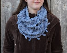 Items similar to Crochet cowl for women, crocheted cowl scarf, silk and wool cowl, long blue cowl on Etsy Kind Of Blue, Custom Bows, Periwinkle Blue, Cowl Scarf, Crochet Scarves, Simple Outfits, Wool Yarn, Hand Crochet, Womens Scarves